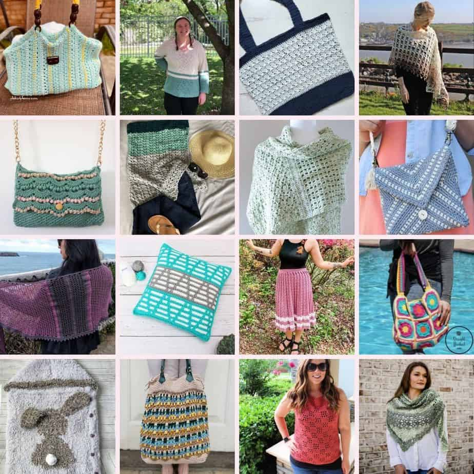 image showing 16 summer crochet patterns