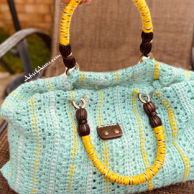 stripe crochet summer bag pattern