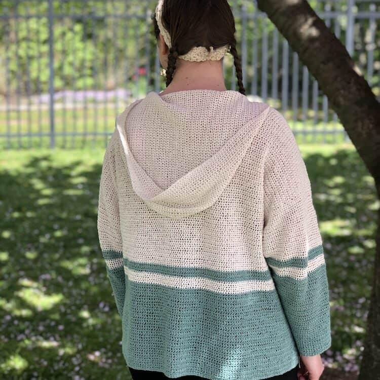 lightweight summer hoodie crochet pattern