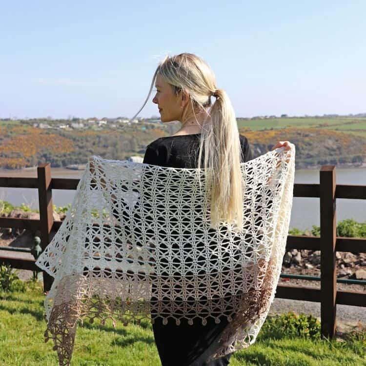 lace crochet shawl pattern