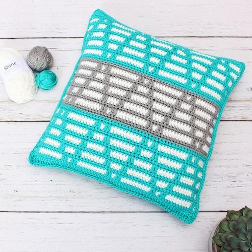 mosaic crochet pillow pattern