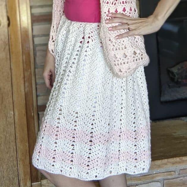 retro crochet skirt pattern