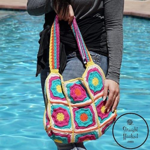 crochet flower bag pattern