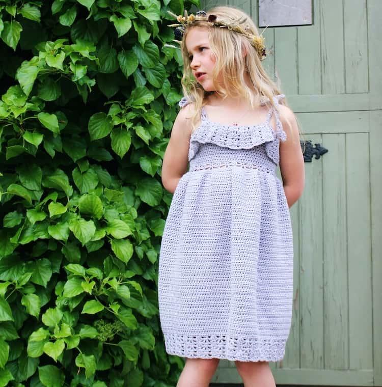lace summer crochet dress pattern