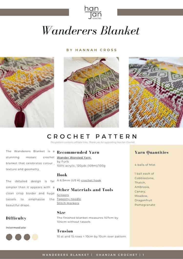 Wanderers Blanket Crochet Pattern PDF 1