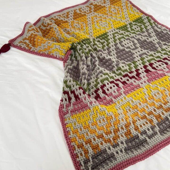 Wanderers Mosaic Crochet Blanket Pattern 4