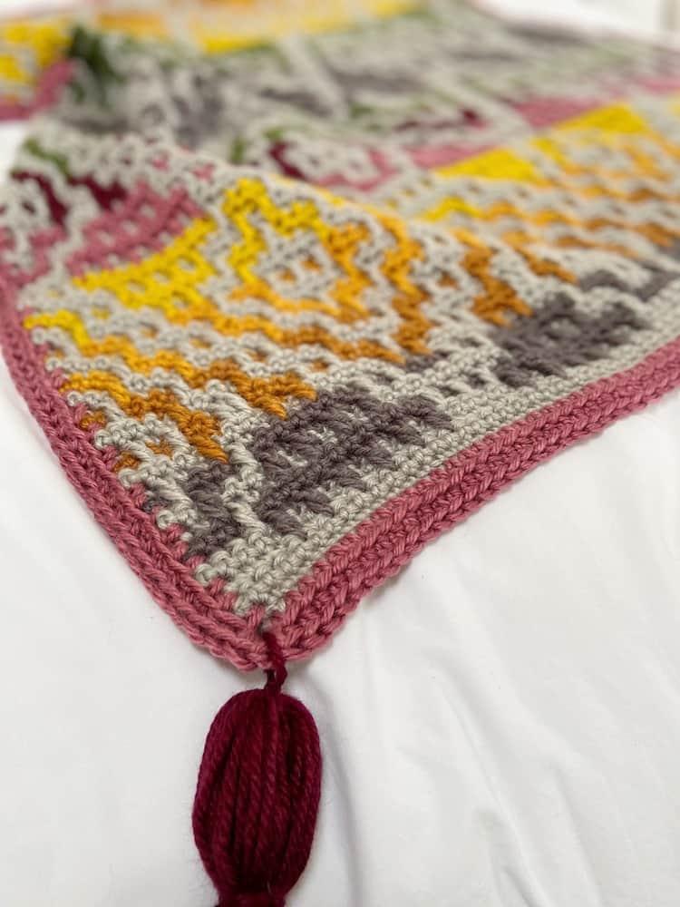 Wanderers Mosaic Crochet Blanket Pattern 5