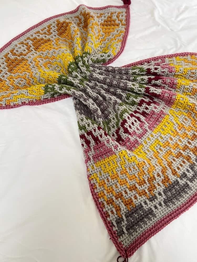 Wanderers Mosaic Crochet Blanket Pattern 9