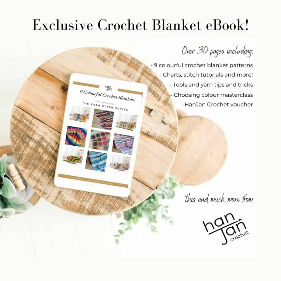 image showing information about 9 colourful crochet blanket patterns ebook
