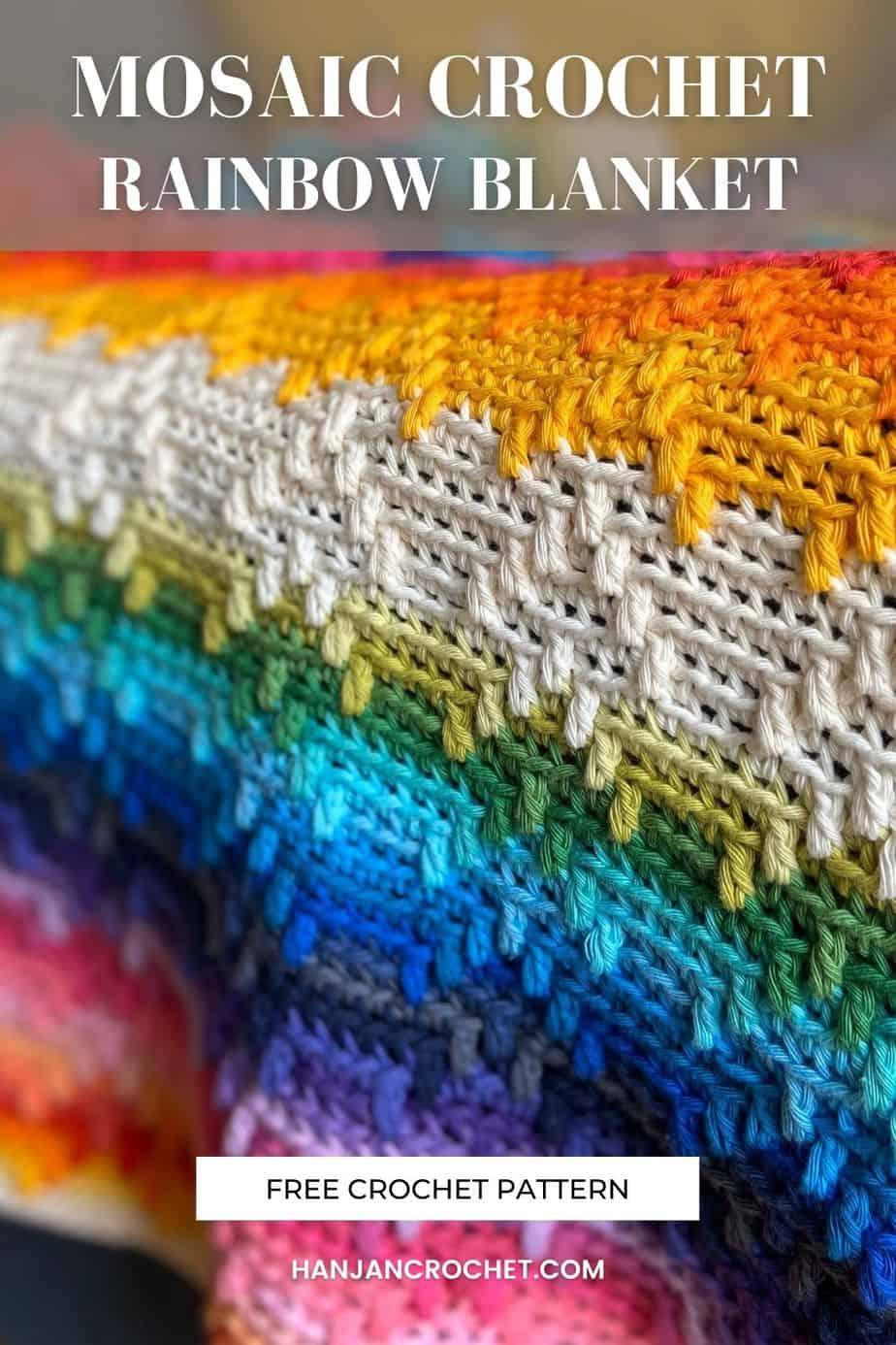 overlay mosaic crochet blanket