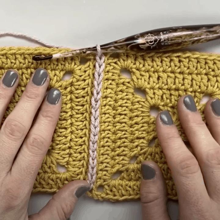 Flat Crochet Join