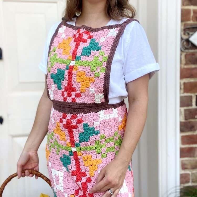 C2C Crochet Apron Pattern set image