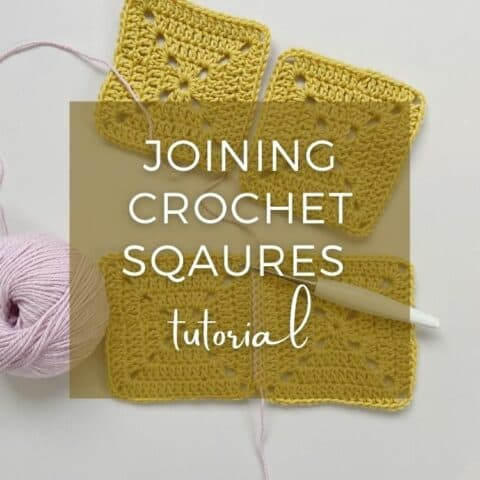 joining crochet squares image