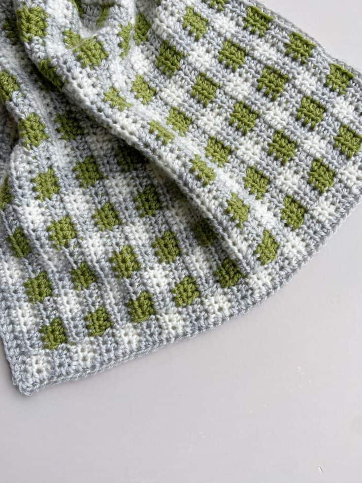 Paragon Plaid Crochet Blanket 6 scaled