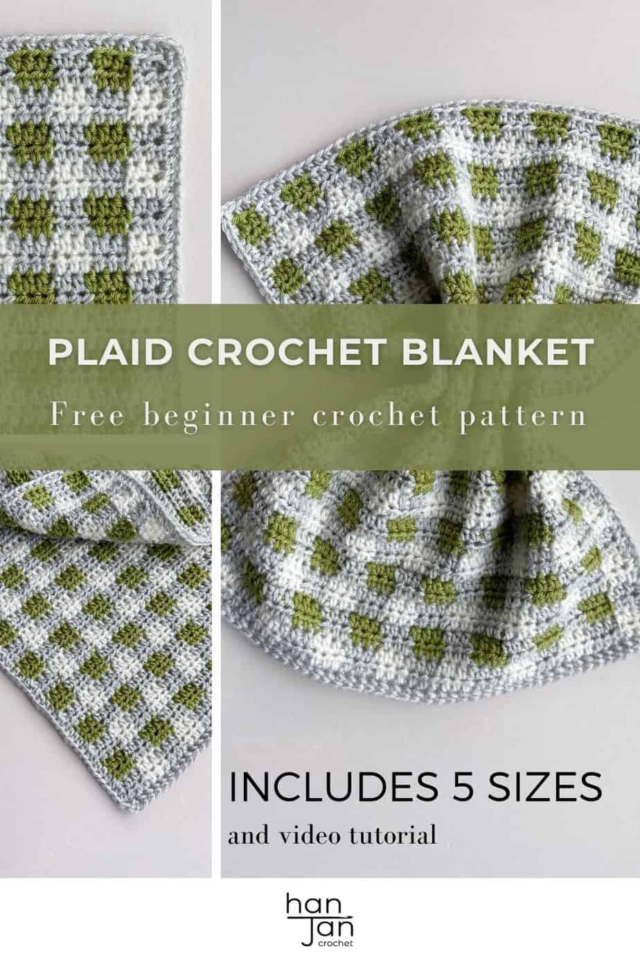 images of plaid crochet baby blanket