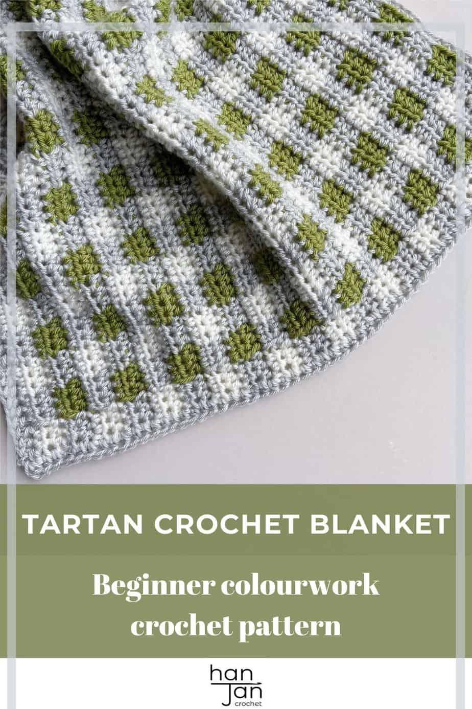 plaid crochet blanket pattern