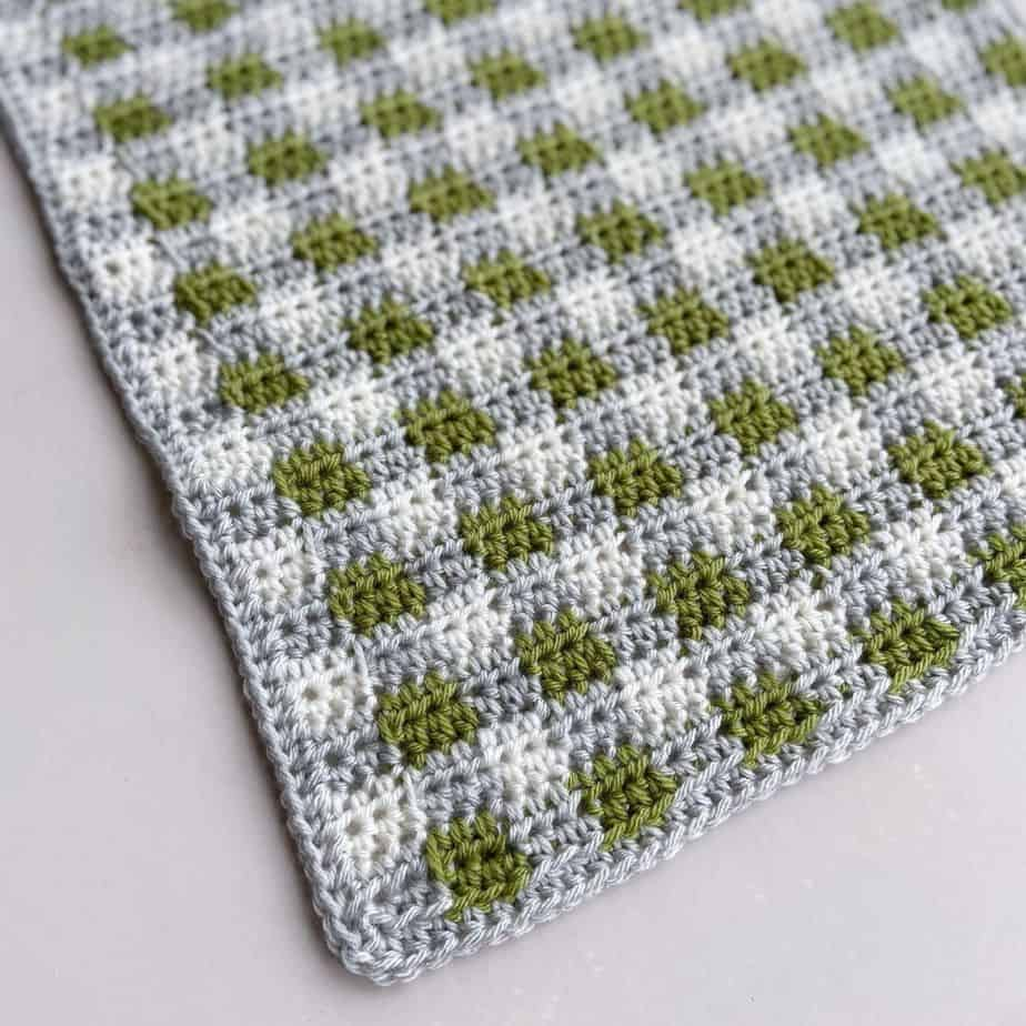 Paragon Plaid Crochet Blanket Pattern featured image
