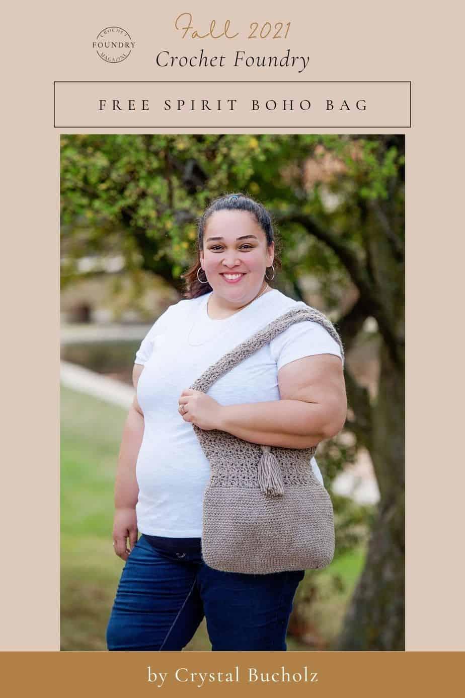 Free Spirit Boho Bag by Crystal Bucholz for Crochet Foundry Magazine 2021