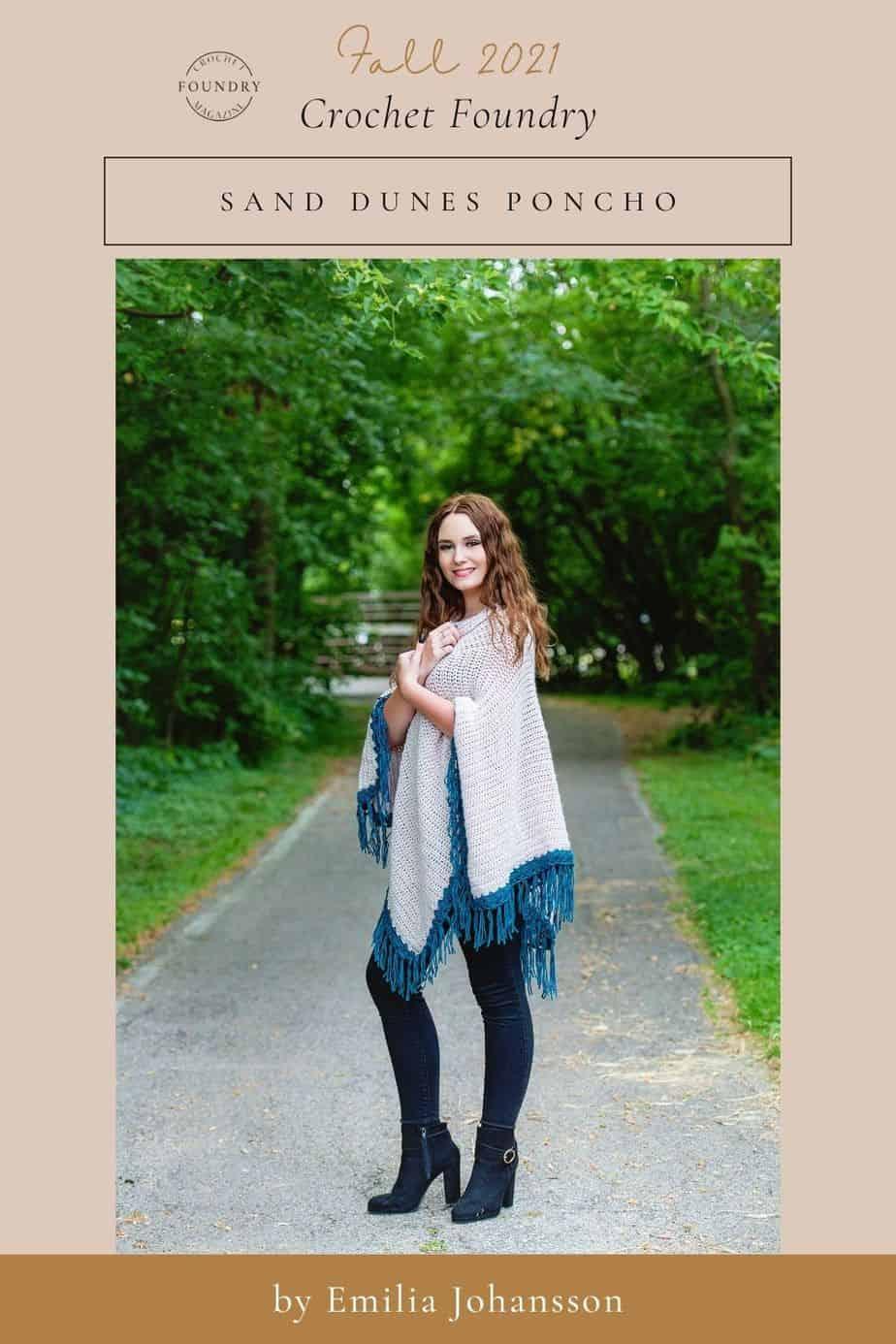 Sand Dunes Pocnho crochet pattern for Crochet Foundry Magazine 2021 by Emilia Johansson