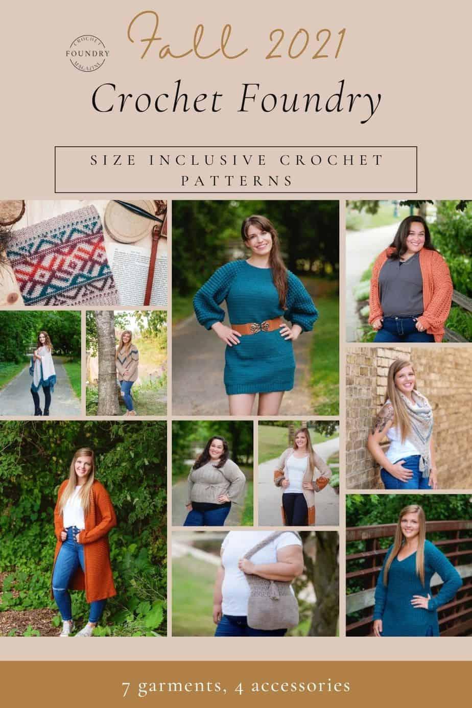 Crochet Foundry Magazine Fall 2021 issue designs