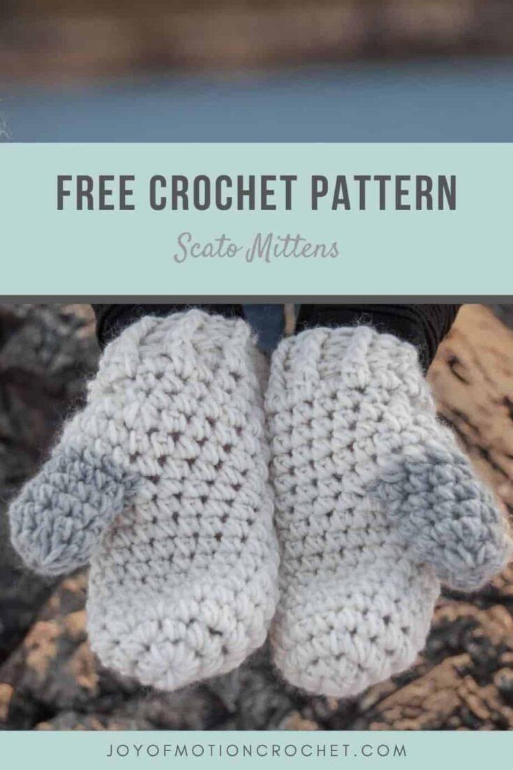 Crochet Scato Mittens Free Crochet Pattern