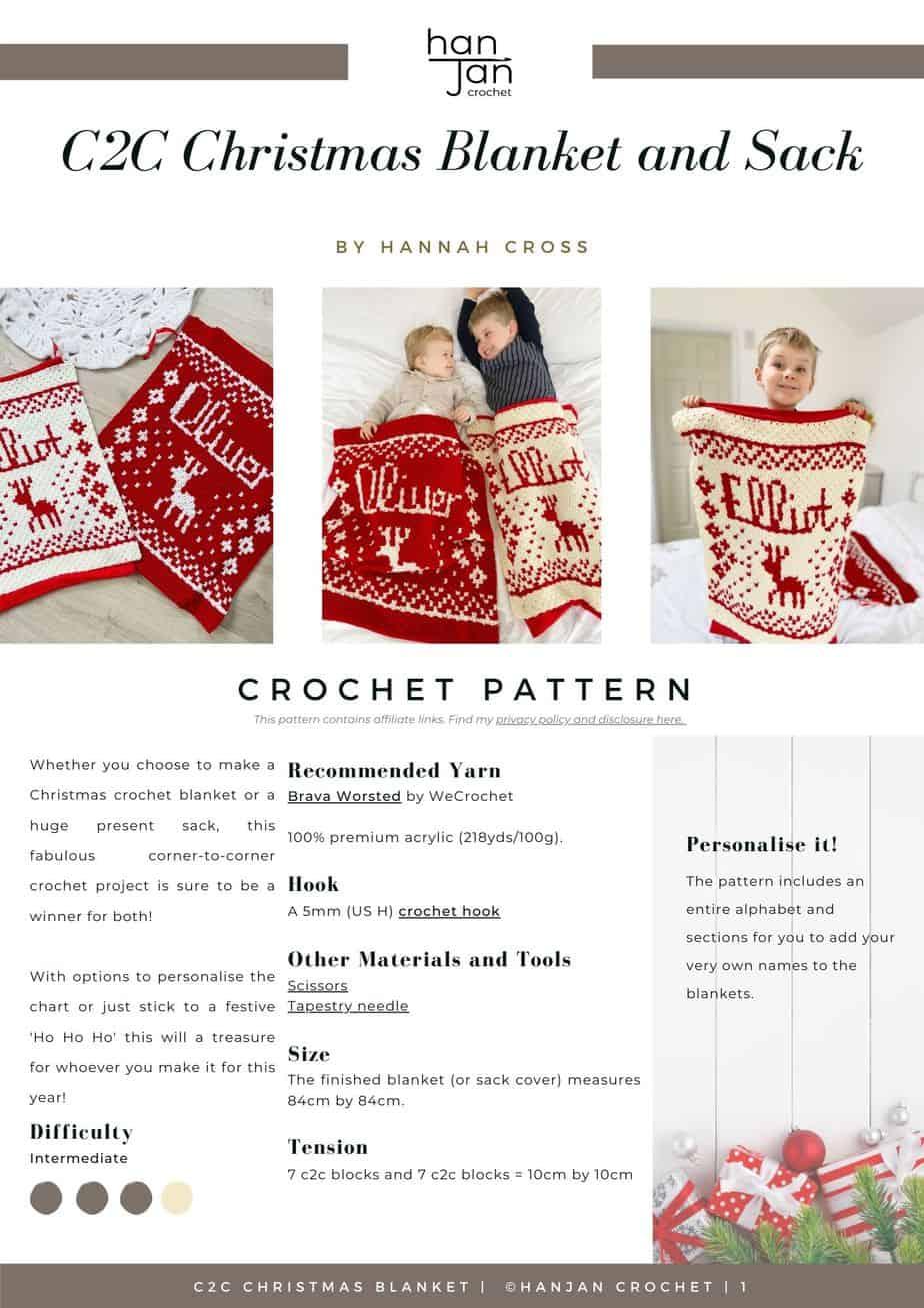 DRAFT C2C Santa Sack Blanket Pattern PDF
