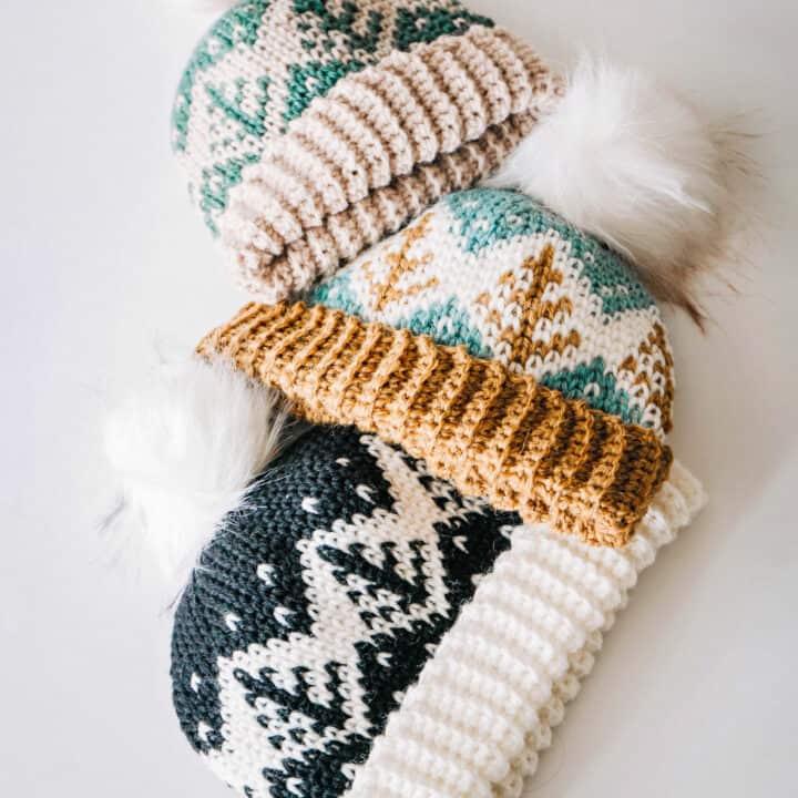 Fair Isle Colorwork Crochet Hat by Briana K Designs 27 of 36
