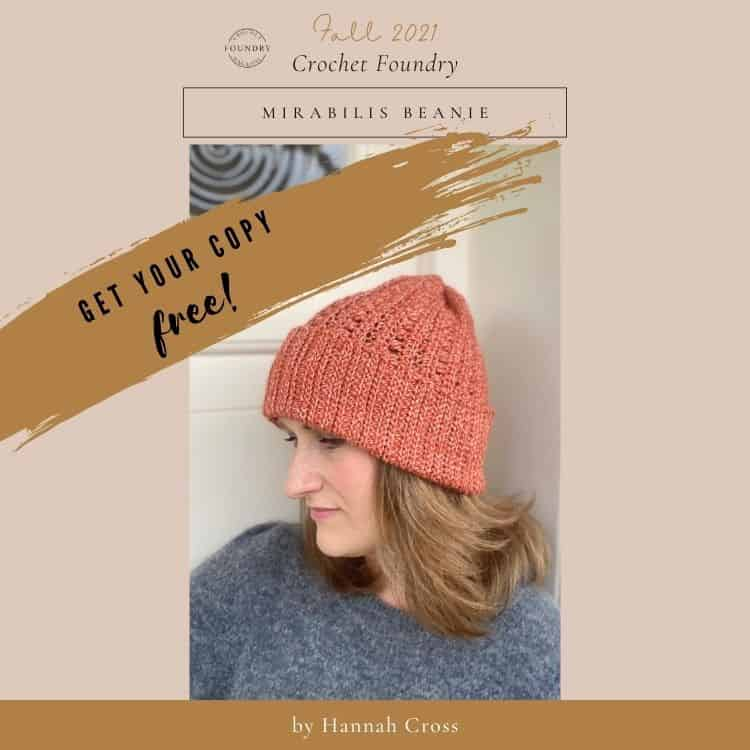 Mirabilis Beanie slouchy crochet hat pattern by HanJan Crochet