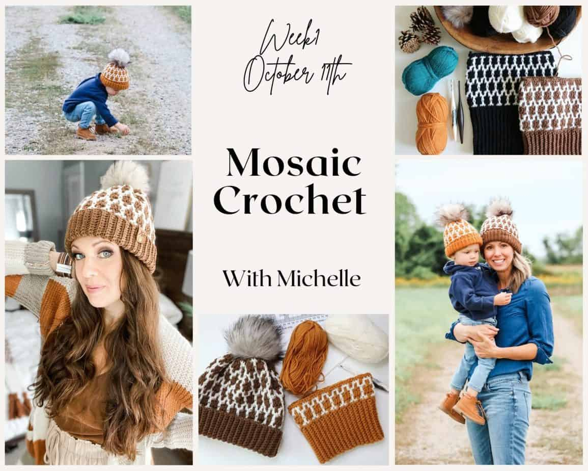 Modish Mosaic Crochet Hat Collage