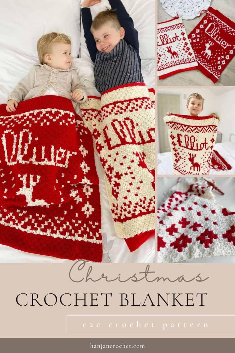 Personalised Christmas Crochet Blanket Pattern Present Sack Pin 1