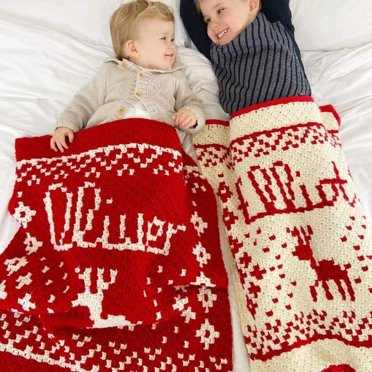 Personalised Christmas Crochet Blanket Pattern or Present Sack featured image