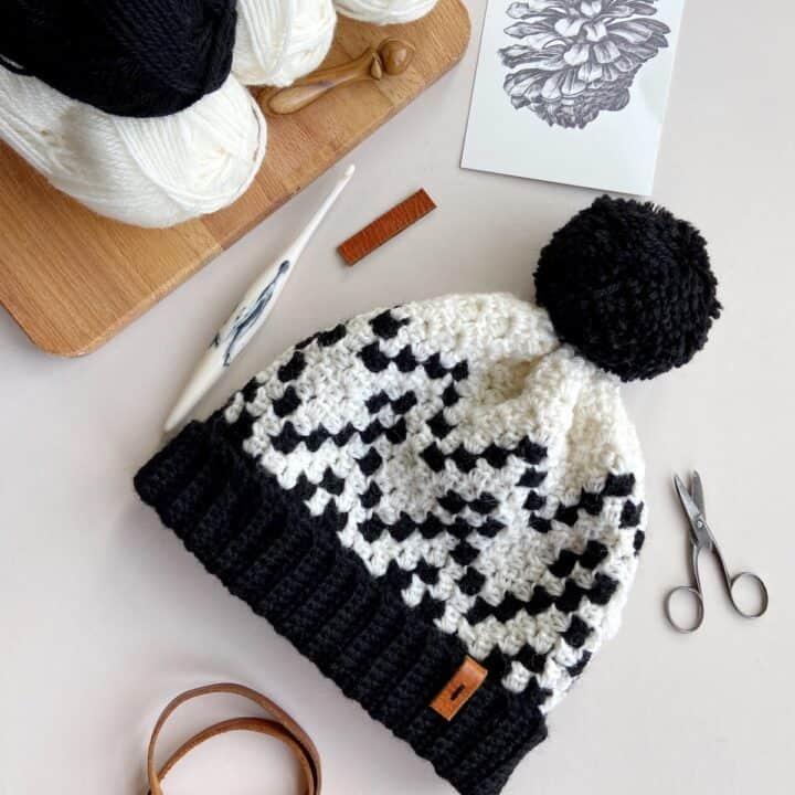 Widcombe c2c crochet hat pattern