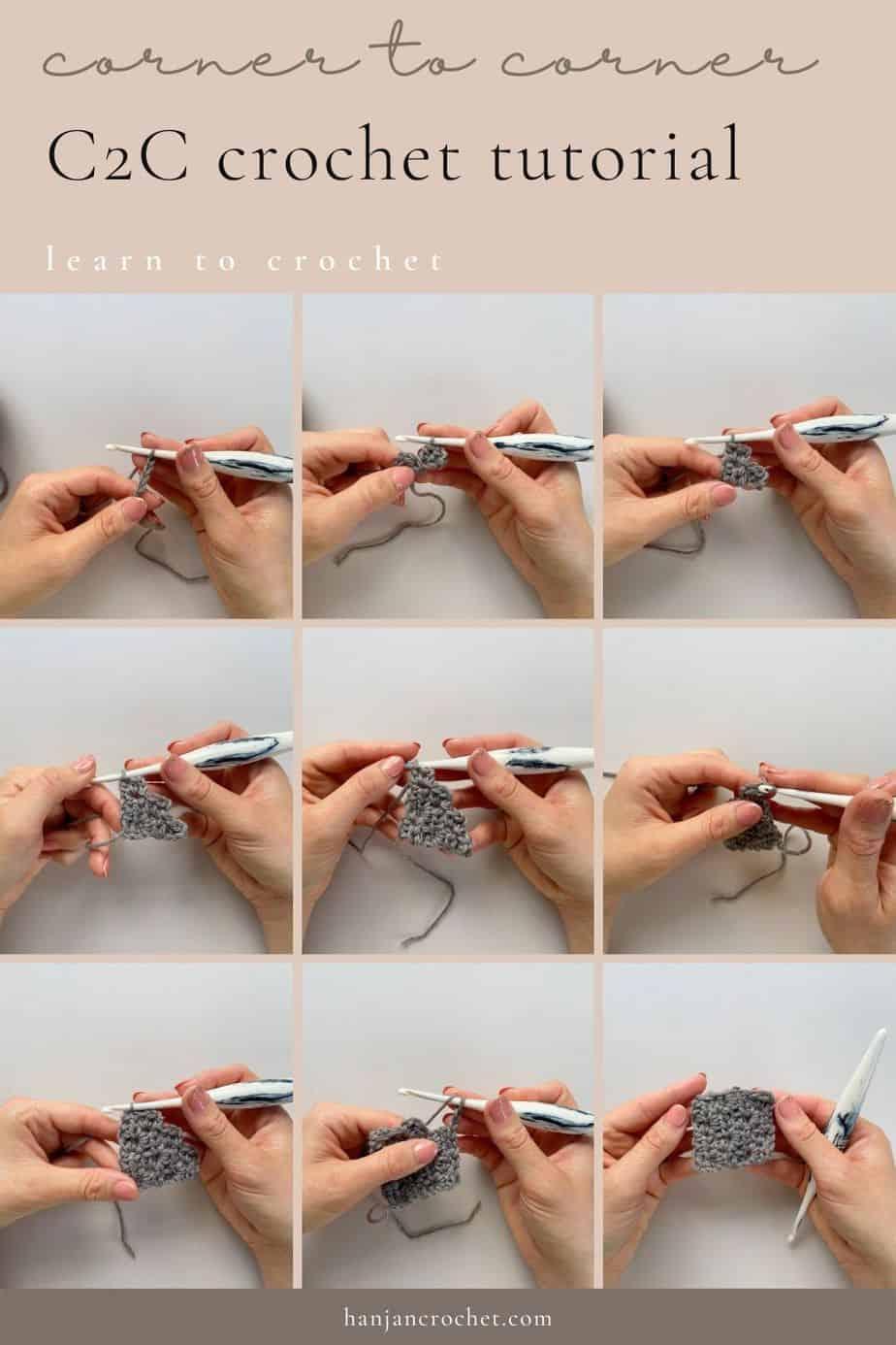 c2c corner to corner step by step tutorial